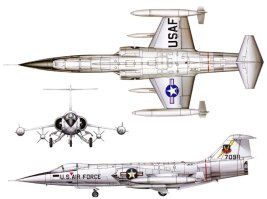 3View-Color-Lockheed-F-104