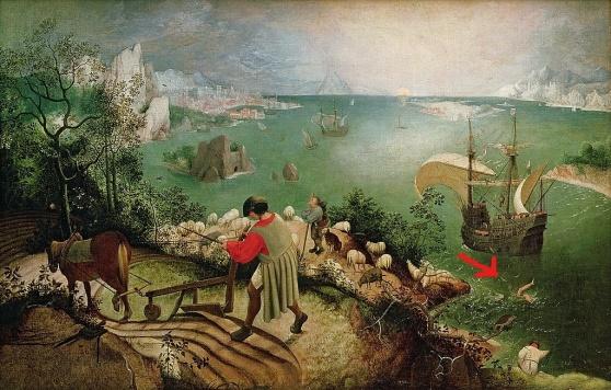 Inked1024px-Pieter_Bruegel_de_Oude_-_De_val_van_Icarus_LI